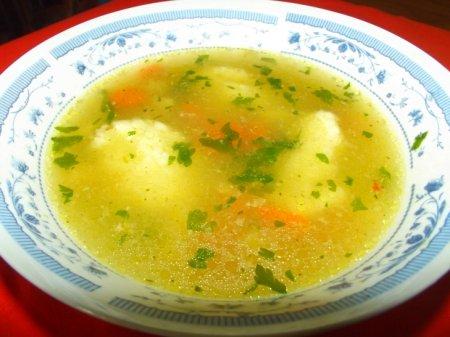 Суп с клецками в мультиварке