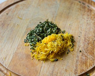 Печенье мадлен с тимьяном и лимоном