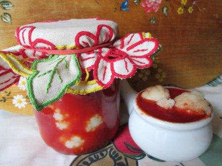 Цветная капуста в томате на зиму