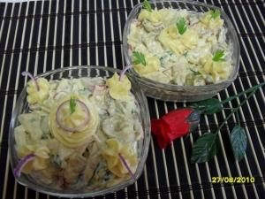 Салат из куриных сердечек