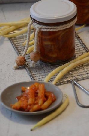 Салат из спаржевой фасоли на зиму