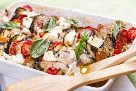 Запеканка овощная с курицей