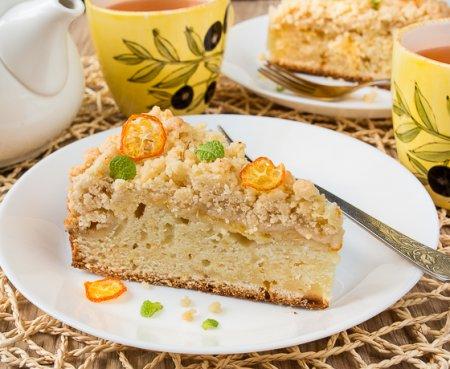 Лимонный пирог со штрейзелем