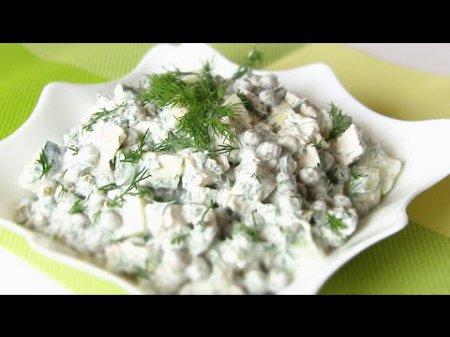 Легкий и быстрый салат без майонеза