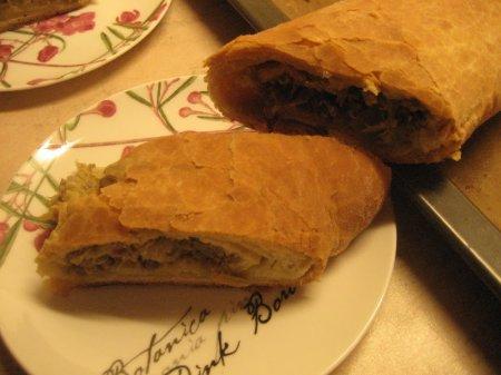Греческий пирог с мясным фаршем