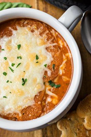 Томатный крем-суп с сыром