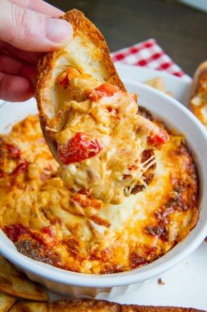 Запеченный красный перец с сыром