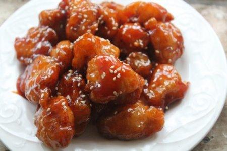 Куриные грудки с медом и кунжутом