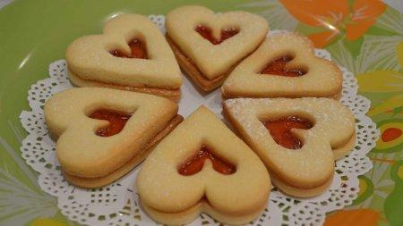 Песочное печенье «Сердечки»