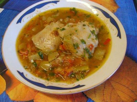 Курица с болгарским перцем и помидорами