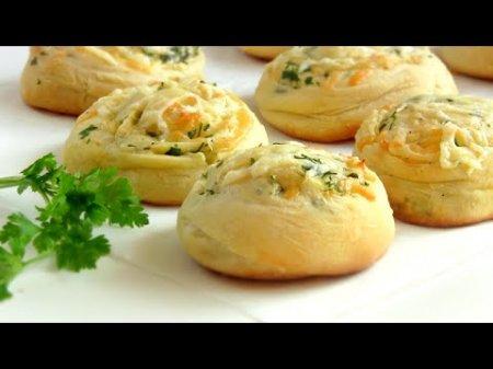 Булочки сырные с зеленью