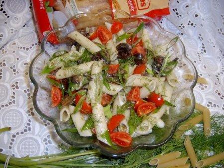 Постные макароны с грибами и фасолью