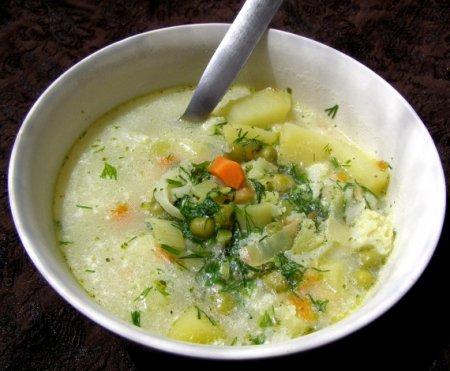Овощной суп в микроволновке