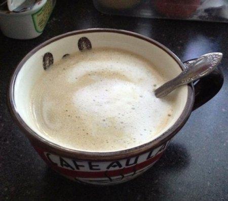 Кофе с молоком в микроволновке