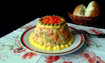 Овощной салат с майонезом