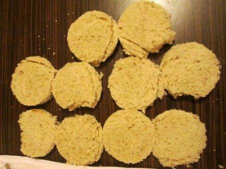 Мини-киш из хлеба