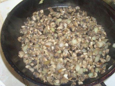 Оладьи с грибами