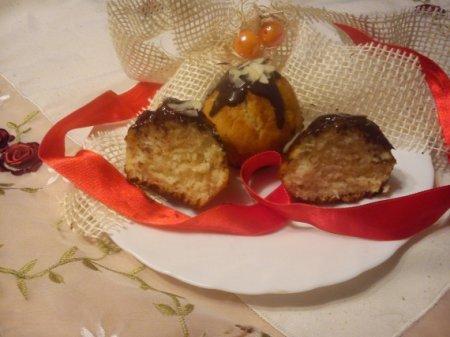 Кексы с кокосовой стружкой