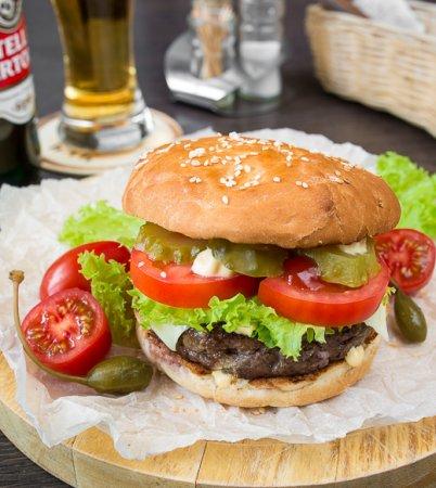 Чизбургер с котлетой из говядины