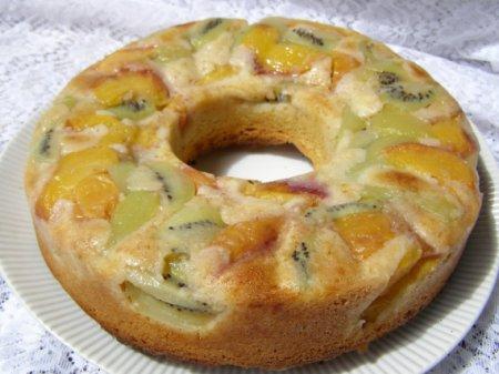 Миндальный пирог-перевёртыш с крыжовником – кулинарный рецепт