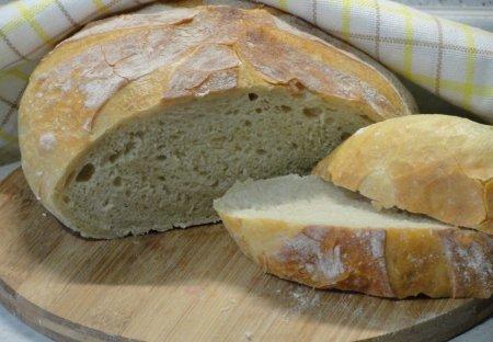 Домашний хлеб за 5 минут без замеса