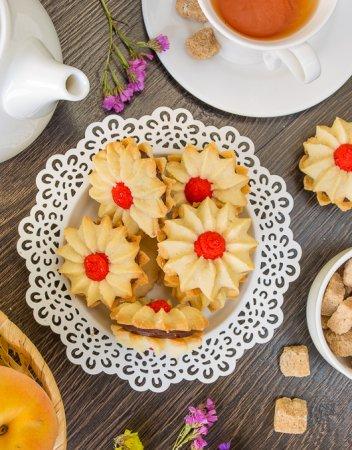 Венское печенье с шоколадной начинкой