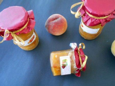Персиковый джем с дыней и кешью