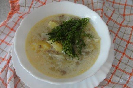 Быстрый и вкусный суп с капустой и фаршем