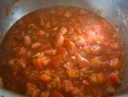 Мясо с грибами в соусе из паприки