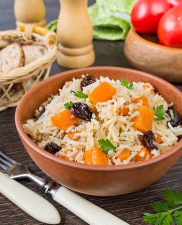 Рассыпчатый рис с тыквой