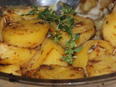 Румяный картофель в духовке
