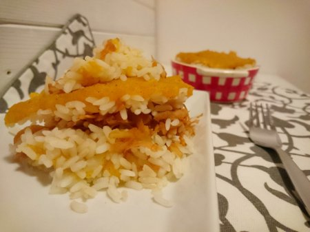 Рис с тыквой и яблоками