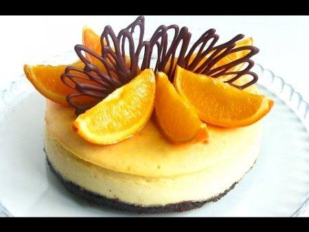 Домашний апельсиновый чизкейк с творогом