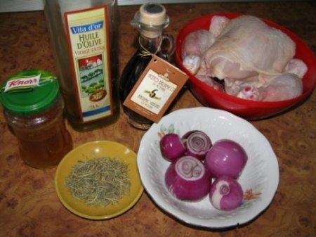 Курица, запеченная с розмарином и бальзамическим уксусом