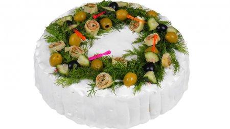 Закусочный торт для праздничного стола