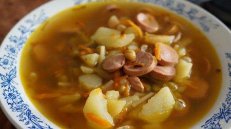 Быстрый суп из сосисок