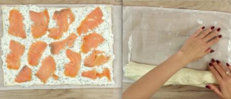 Лосось с сыром в тесте