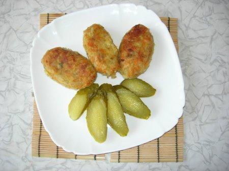 Постные котлеты из картофеля и риса