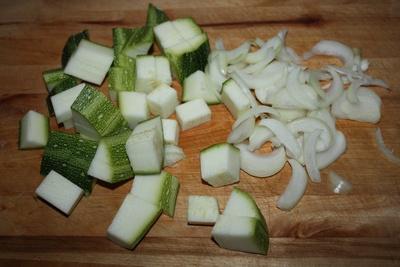 Жареные кабачки с картошкой