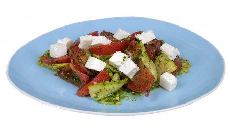 Салат из кабачков под зеленой заправкой. Без майонеза