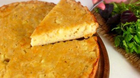 Картофельный пирог на кефире - сытный вкусный и простой