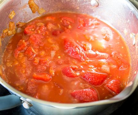 Суп-пюре из печеного перца с курицей