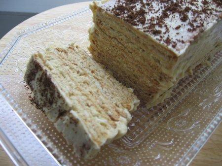 Торт из халвы и печенья