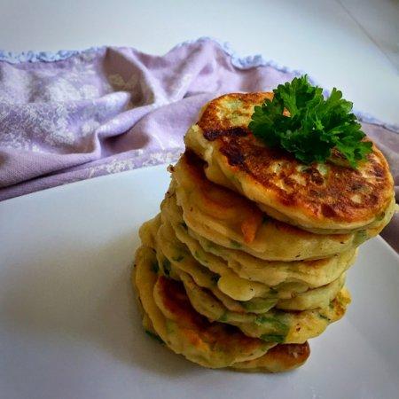 Сырники с зеленым луком