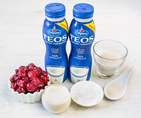 Вишневое йогуртовое желе