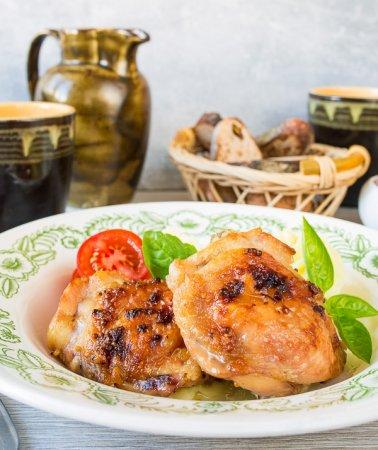 Куриные бедра с коричневым сахаром