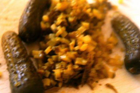 Соус Тартар с маринованными грибами