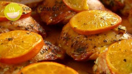 Курица в апельсинах