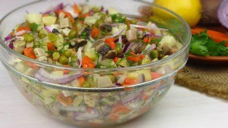 Постный вкусный салат
