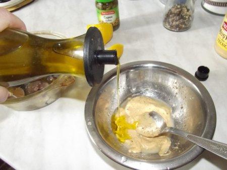Запеченная скумбрия в горчичном соусе